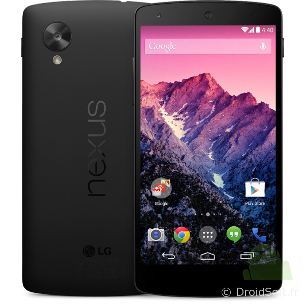 nexus 5 google android 4.4 officiel noir