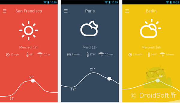 nice weather android app gratuit