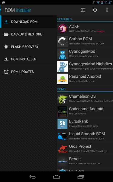 rom installer android