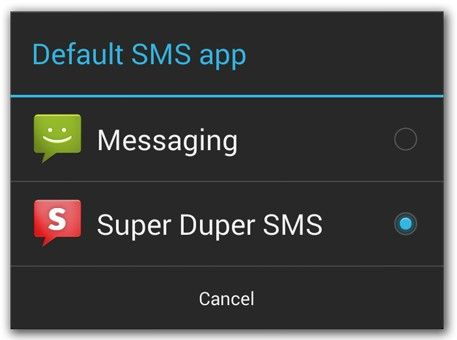 sms Android kitkat