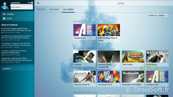 android uplay ubisoft app gratuite
