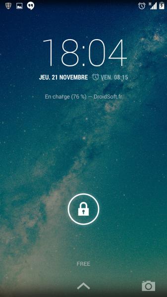 comment afficher un texte sur le lockscreen android