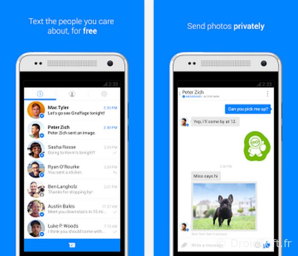 facebook messenger android sms