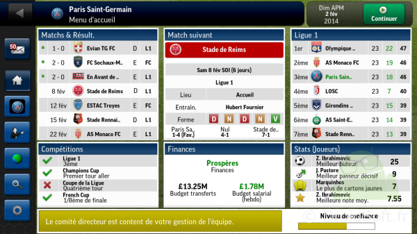 football manager 2014 Android 2