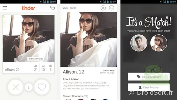 tinder android app gratuite