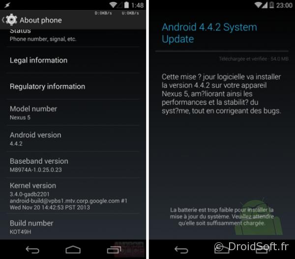 Android Kitkat 4.4.2 nexus 4 nexus 5 nexus 7