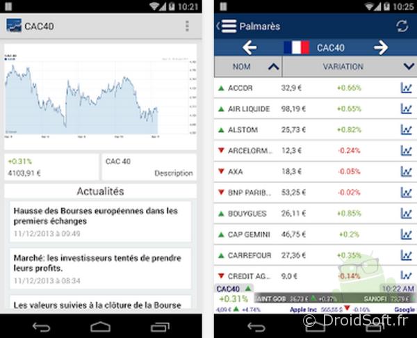 bourse info app gratuite android apk