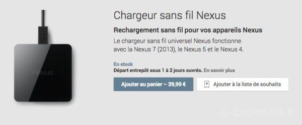 chargeur sans fil nexus 5