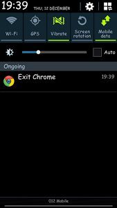 exit chrome android app