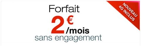 free mobile forfait 2 euro 4G