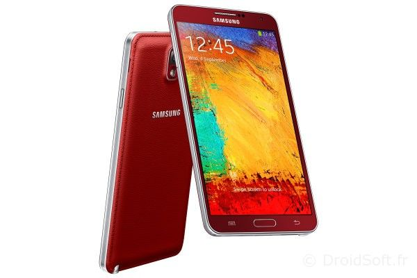 galaxy note 3 rouge