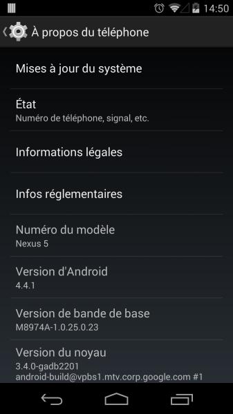 nexus 5 android 4.4.1