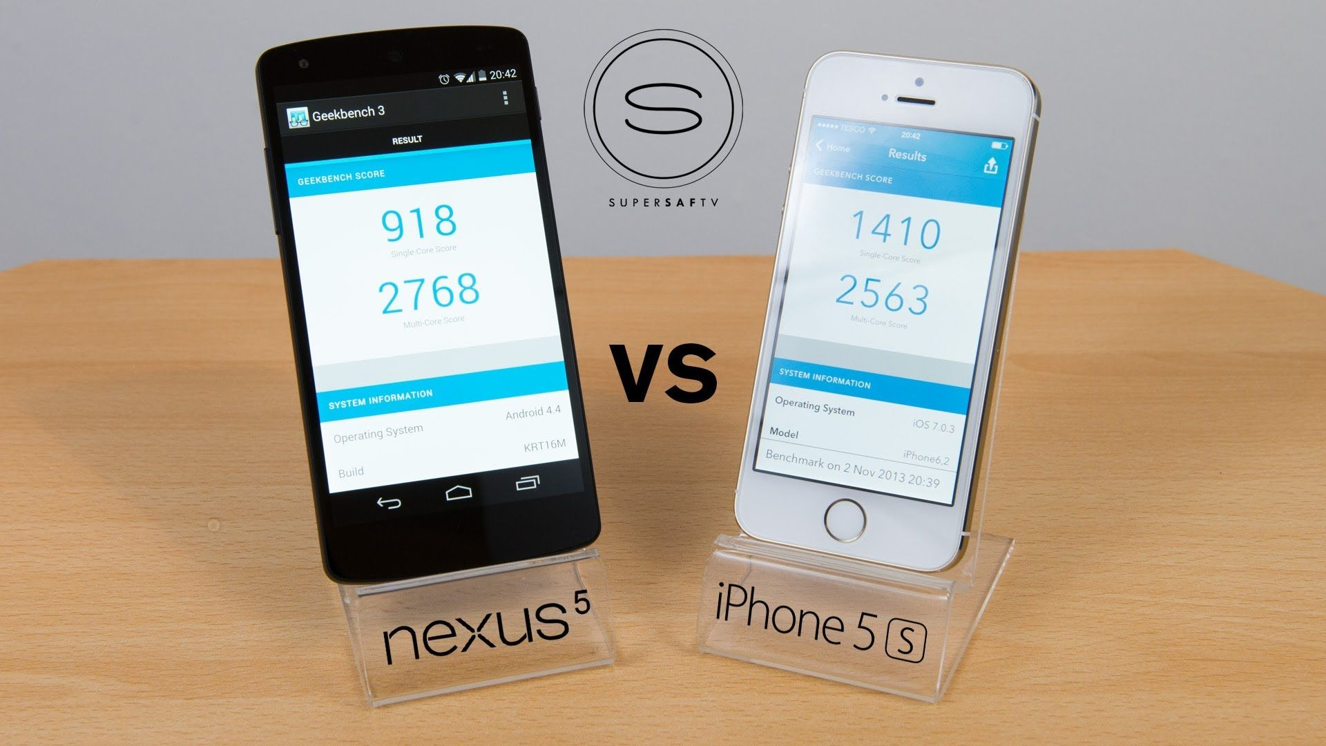nexus 5 vs iphone 5S test