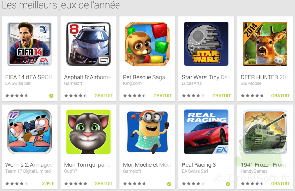 top jeux android 2013