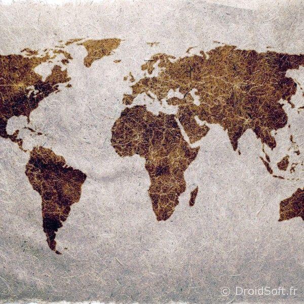 Carte du monde fond android wallpaper world map