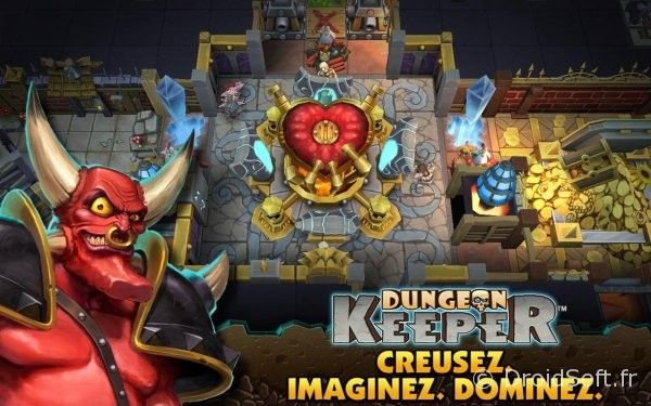 dungeon keeper apk android jeu sortie