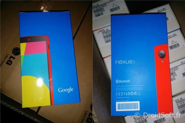 nexus 5 rouge carton boite box