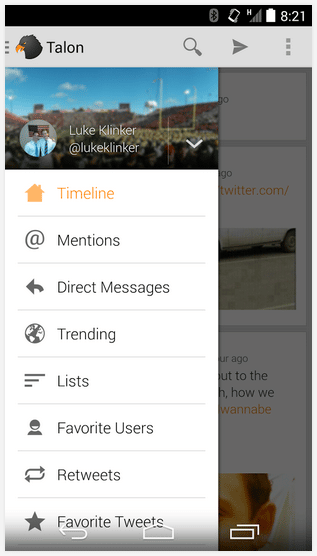 talon for twitter android app