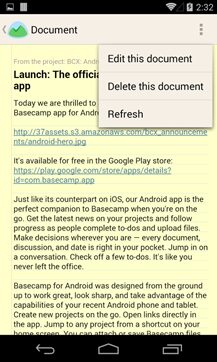basecamp android