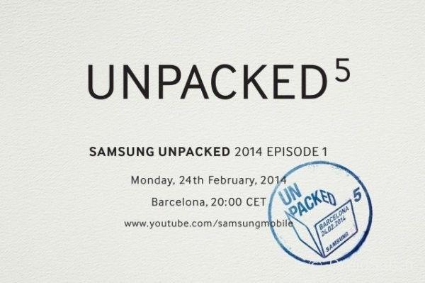galaxy s5 unpack event samsung 24 fevrier 2014