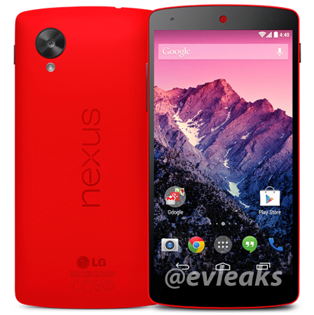 nexus 5 rouge photo presse