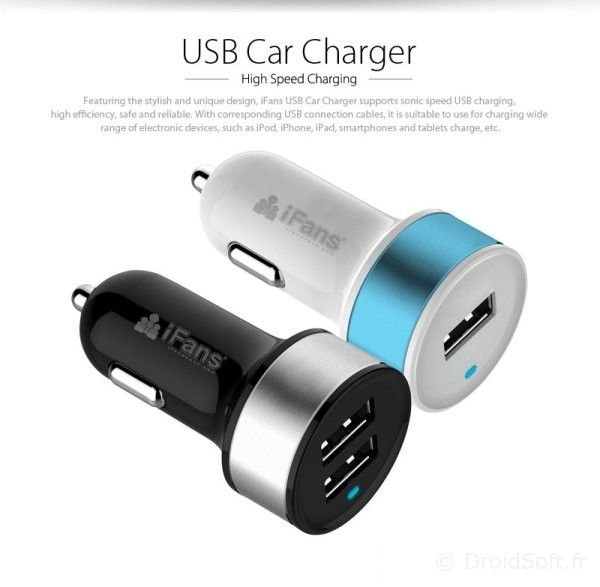chargeur voiture iphone