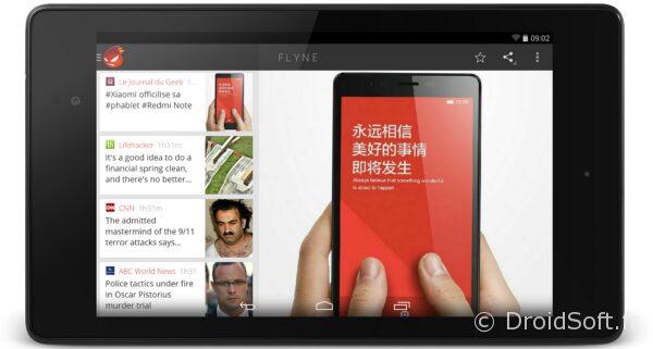 flyne tablette nouvelle interface