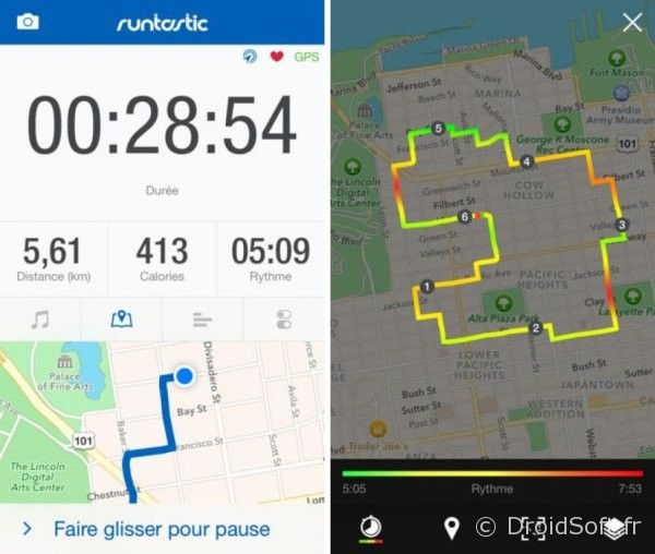 runtastic-gps-course-b-pied-ma android