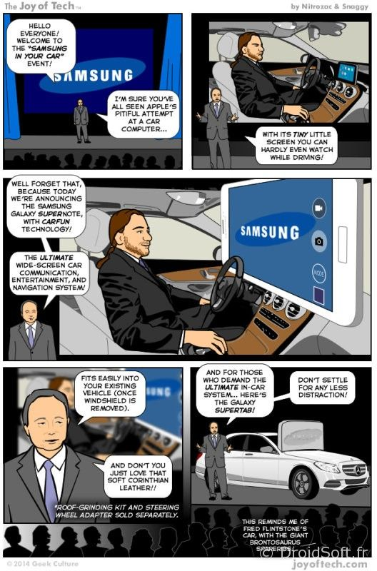 samsung carfun vs carplay