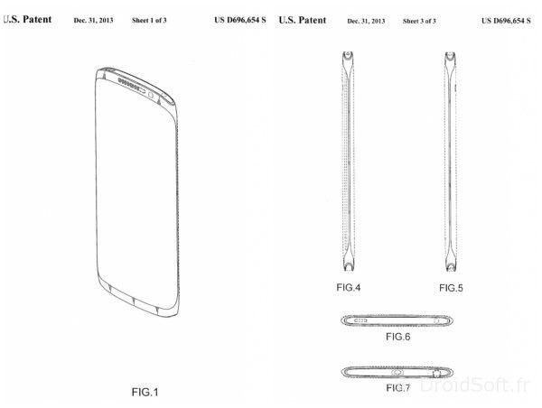 Samsung-Galaxy-Note-4 brevet