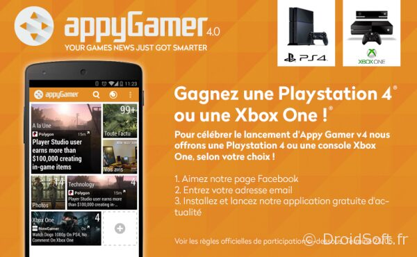 appy gamer concours