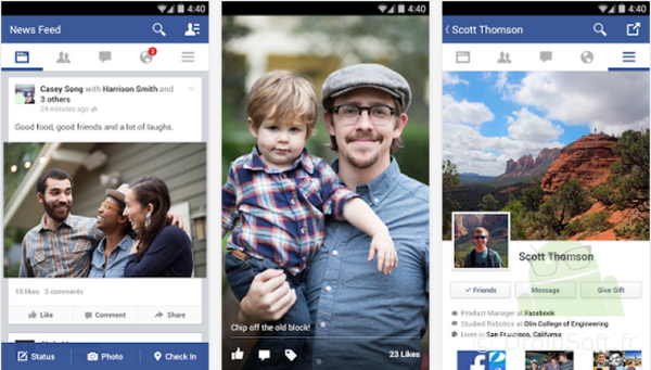 facebook android flat design apk