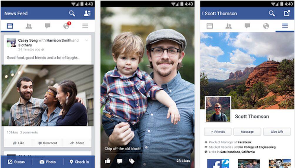 facebook android flat design apk