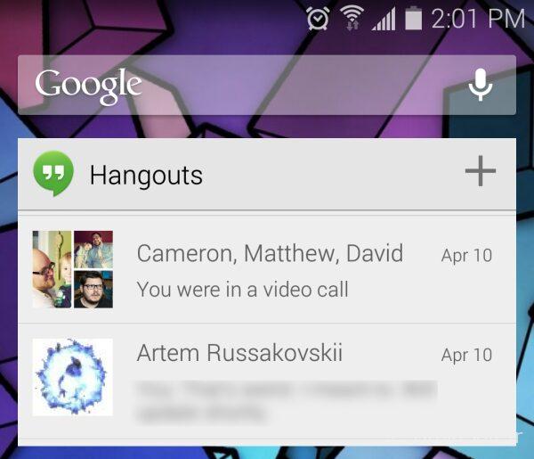 google hangouts 2.1 apk
