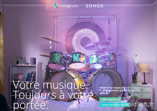 google play musique sonos android