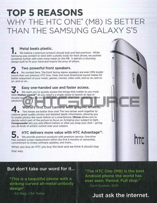 htc-one-M8 vs samsung galaxy-S5 5-raisons