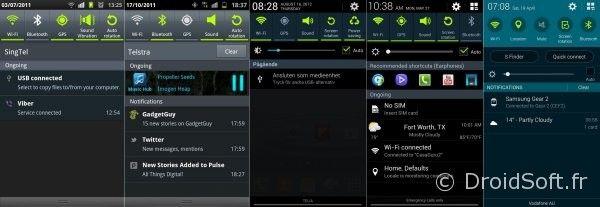 notifications galaxy S1 S2 S3 S4 S5