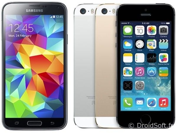 samsung-galaxy-s5-vs-apple iphone 5s comparatif