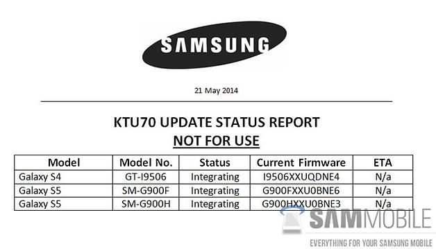 , Samsung annonce Android 4.4.2 KitKat, en testant 4.4.3