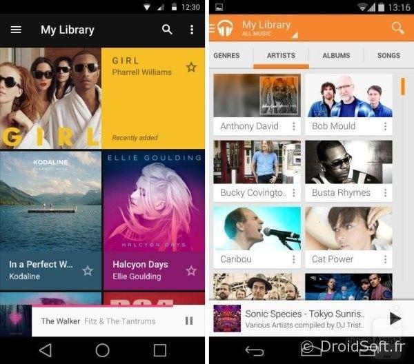 android 5.0 L musique