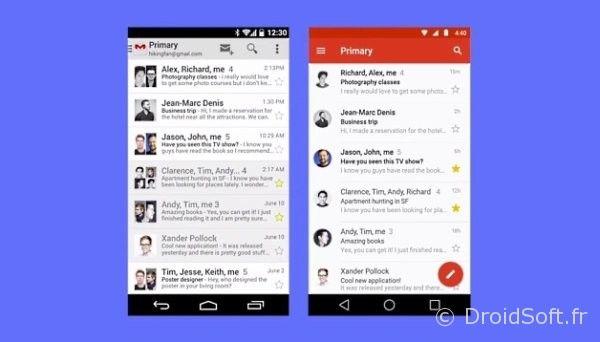 material-design-gmail avant apres