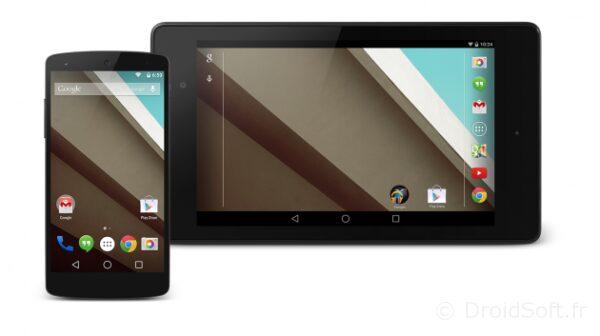 nexus 5 7 android 5 L