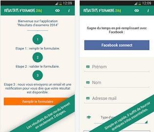 Résultats Bac et Brevet 2014 app apk