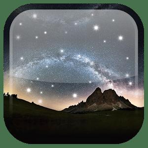logo  Ciel de nuit fond d'écran anim