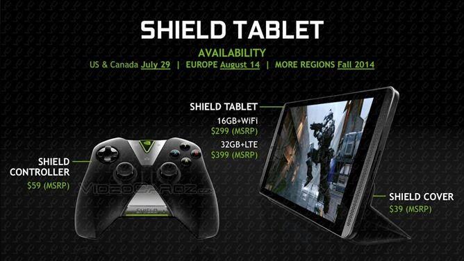 shield tablet nvidia android