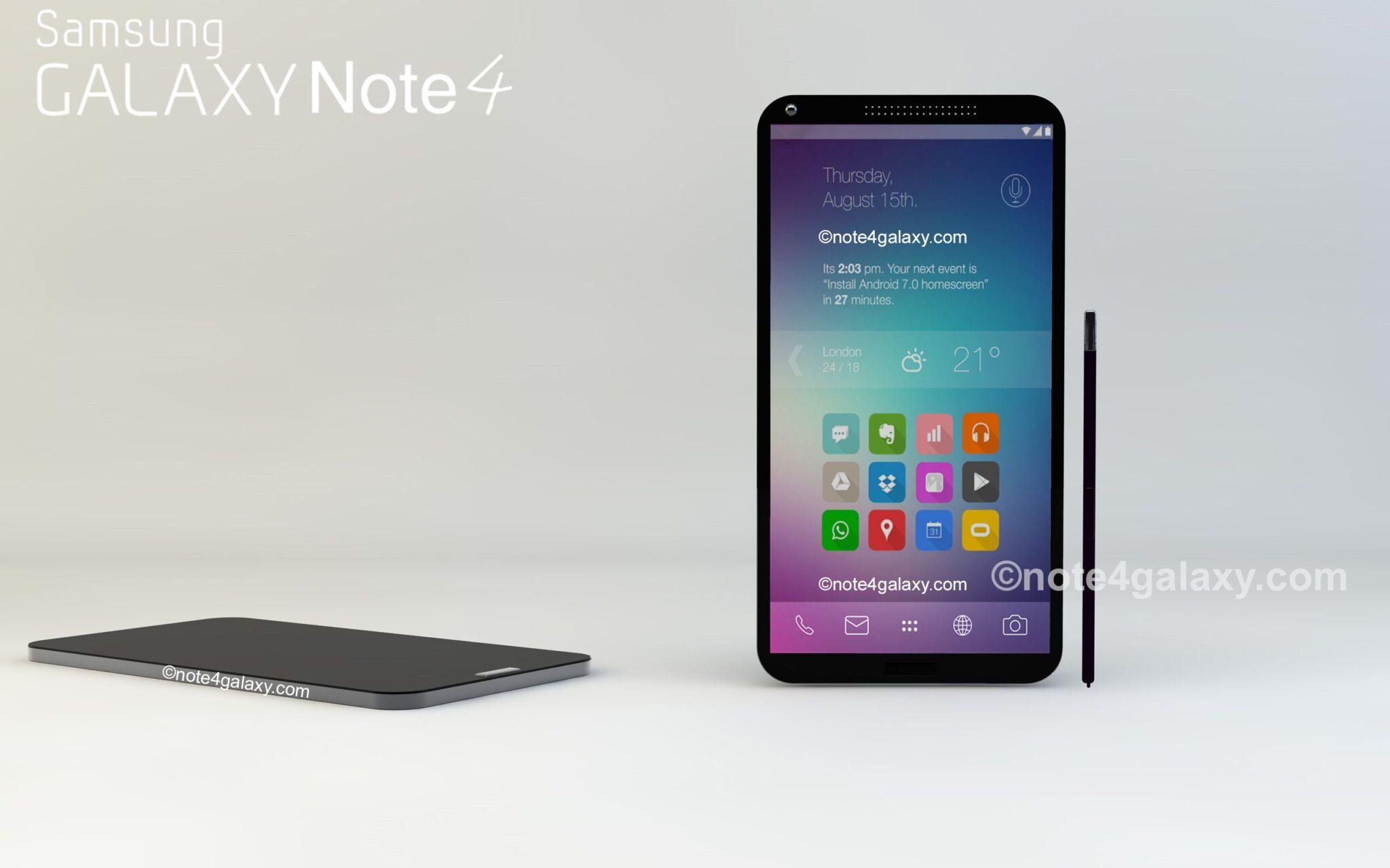 Galaxy note 4 conceptGalaxy Note 4 Concept