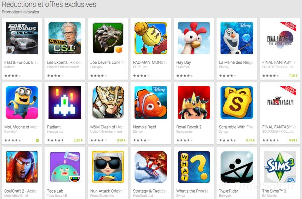 bons plans android google 2014