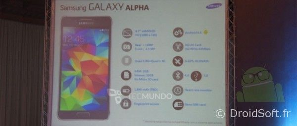 galaxy alpha spec prix