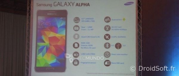 galaxy alpha spec prix