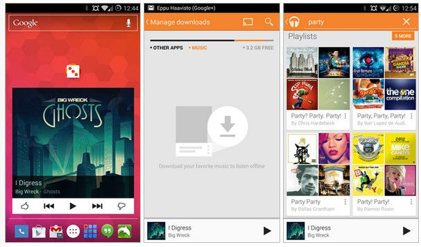 google music widget